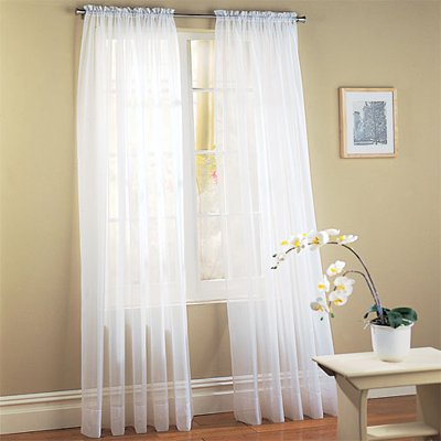 Elegant Comfort Voile84 Window Curtains Sheer Panel With 2 Inch Rod Pocket 60 Width X 84 Length