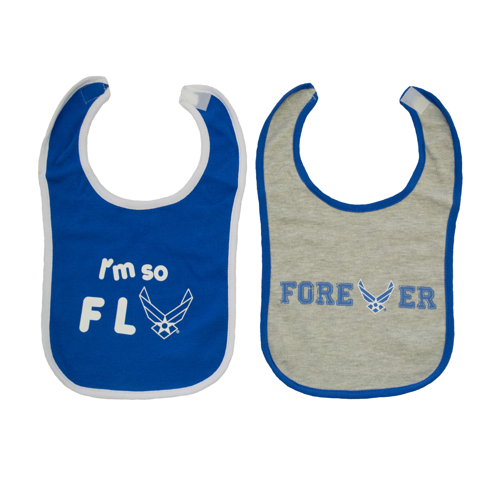 TC Baby Boys U.S. Air Force I'm So Fly Baby Bibs 2 pk by