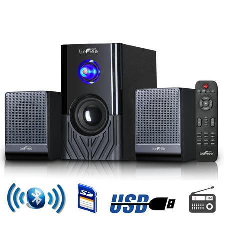 beFree Sound 2.1 Channel Multimedia Entertainment Shelf Bluetooth Speaker (Best Lg Component Shelf Speakers)