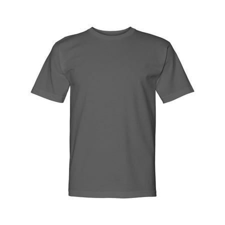 Bayside 5040 Adult American Pride Short Sleeve Crewneck T-Shirt - Charcoal - (Bayside Adult Tshirt)
