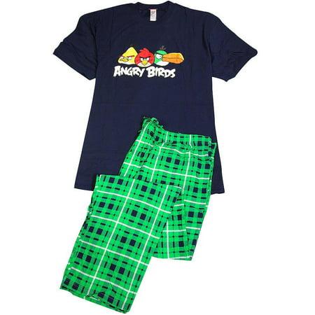 Angry Birds - Mens Big Short Sleeve Angry Birds Pajamas MULTICOLOURED / XXX-Large](Angry Birds 3-12 Halloween)