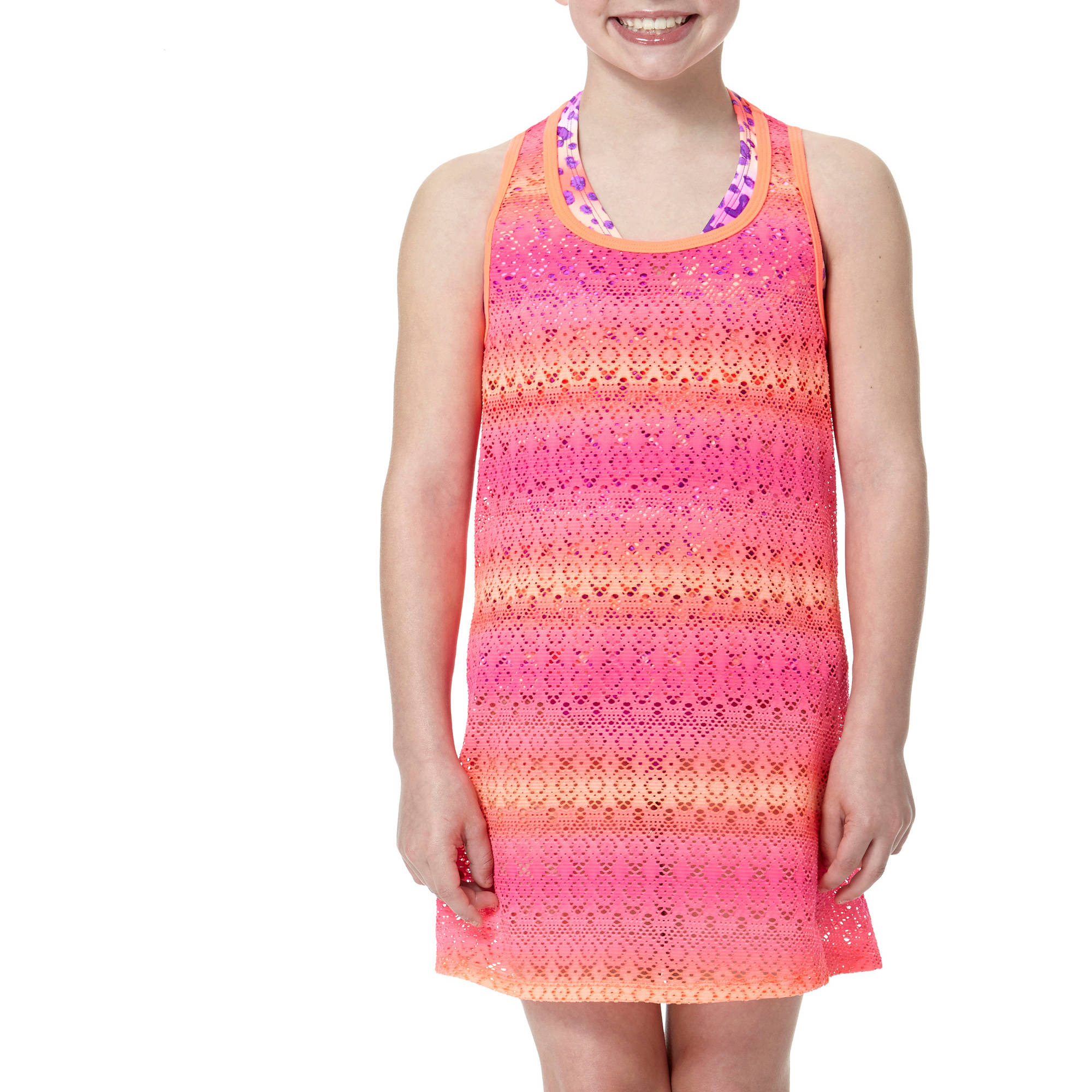 OP Girls' Swimsuit Crochet Cover Up