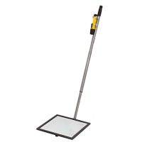 """CRL 1MF12L 12"""" Flat Inspection Mirror with Wheels and Light"""