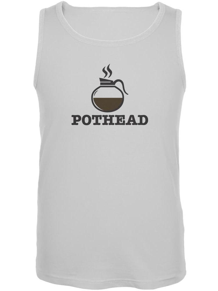 Pothead White Adult Tank Top