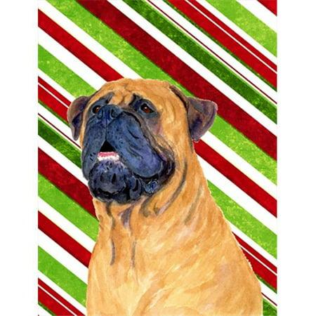 Carolines Treasures SS4589GF 11 x 15 In. Mastiff Candy Cane Holiday Christmas Flag, Garden Size - image 1 de 1