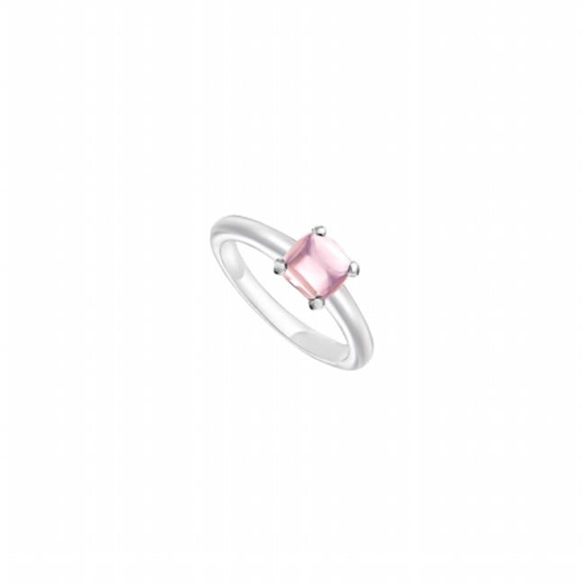 Fine Jewelry Vault UBLRCW14ZPK-101RS5 Pink Chalcedony Ring 14K White Gold, 5.00 CT Size 5 by Fine Jewelry Vault