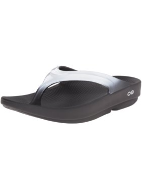 1773fd5dfa1f Product Image OOFOS 1400BLKCLDWHT  Women s OOlala Black Cloud White Thong Flip  Flops (8 B