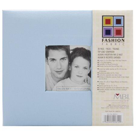 Fashion Fabric Post Bound Album W/Window 8 Inch X 8 Inch-Sky Blue