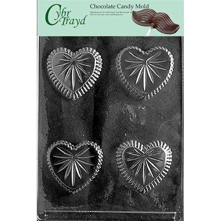 (Cybrtrayd V050 Heart Candy Dish Valentine Chocolate Candy Mold, Small)