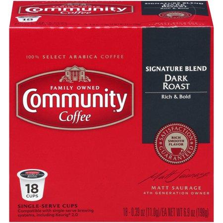- Community® Coffee Signature Blend Dark Roast Single-Serve Cups 18 ct Box