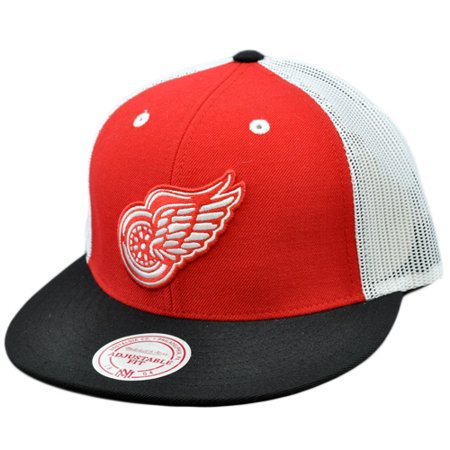 NHL Mitchell Ness Mesh Throwback Logo Snapback Hat Cap Detroit Red Wings