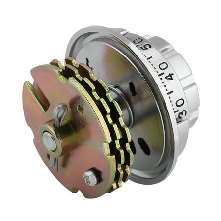Garosa Serrures à combinaison en métal à cadran codé par disque pour coffret à documents coffre à bijoux, serrure à coffret à bijoux - image 3 de 7