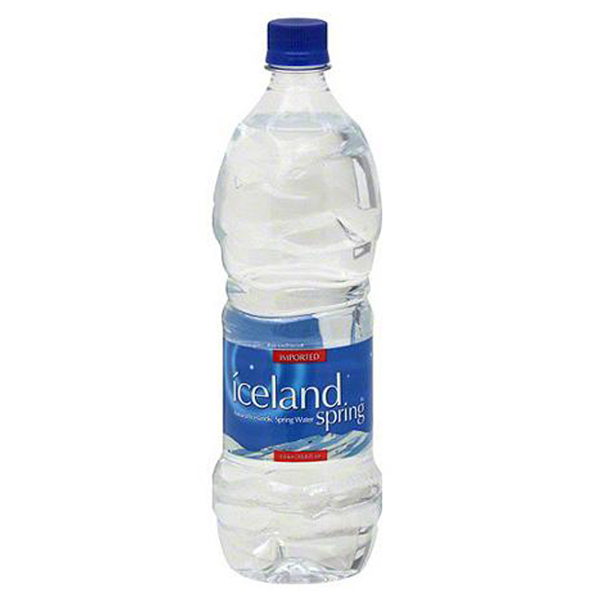 Iceland Spring Water 33.81 oz Plastic Bottles Pack of 12 by
