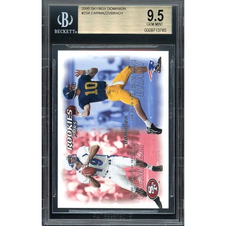 2000 Skybox Dominion  234 Tom Brady New England Patriots Rookie Card Bgs 9 5