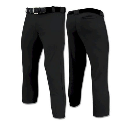 Champro Tournament Girls Softball Pant, Black, Size Large