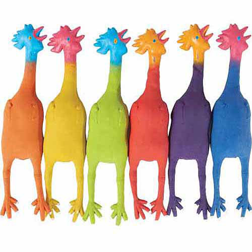 6 Color Rubber Chickens