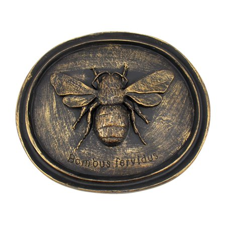 Bronze Finish Bumblebee Wall Plaque Entomology