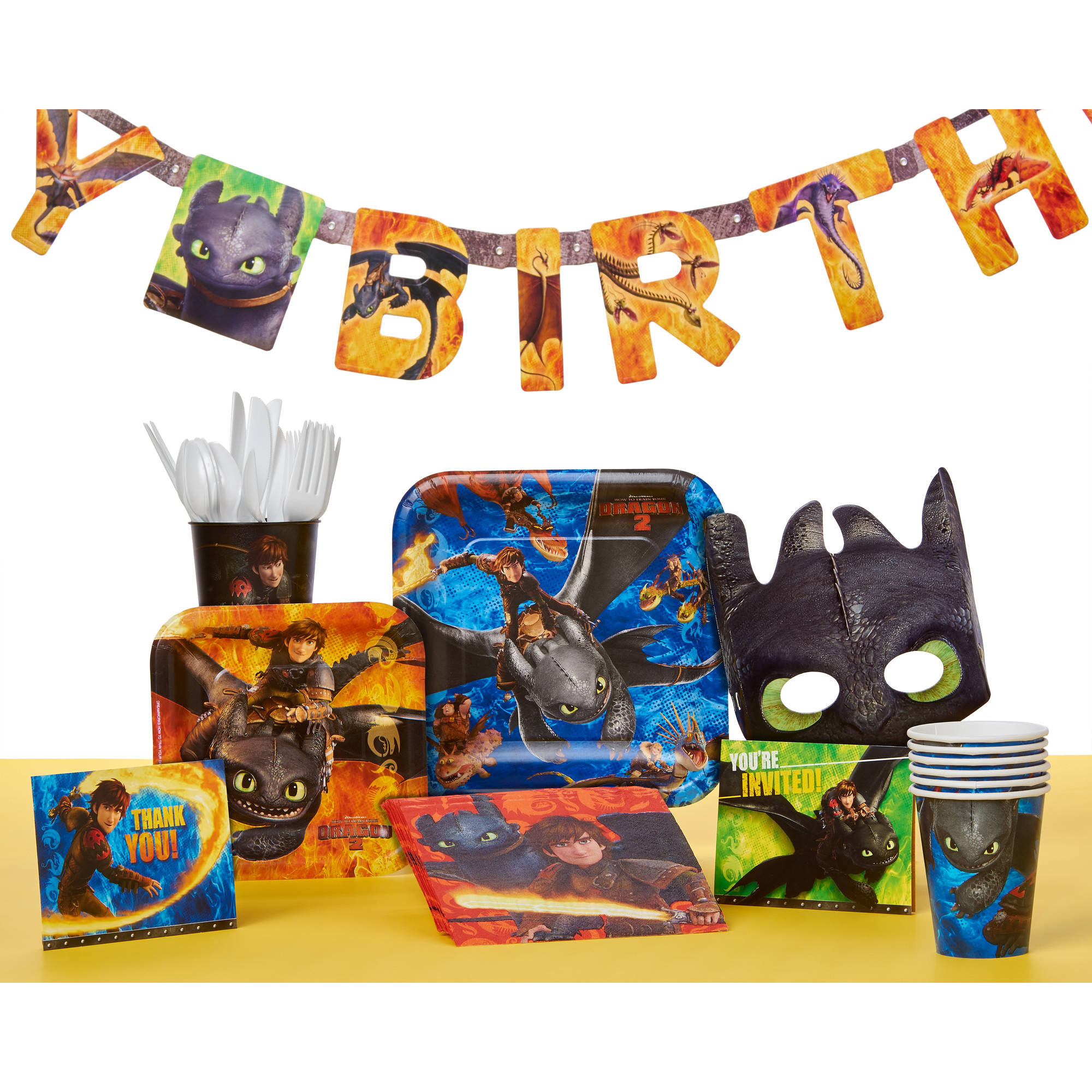 How To Train Your Dragon Birthday Party Banner 7 59 Ft Walmart Com