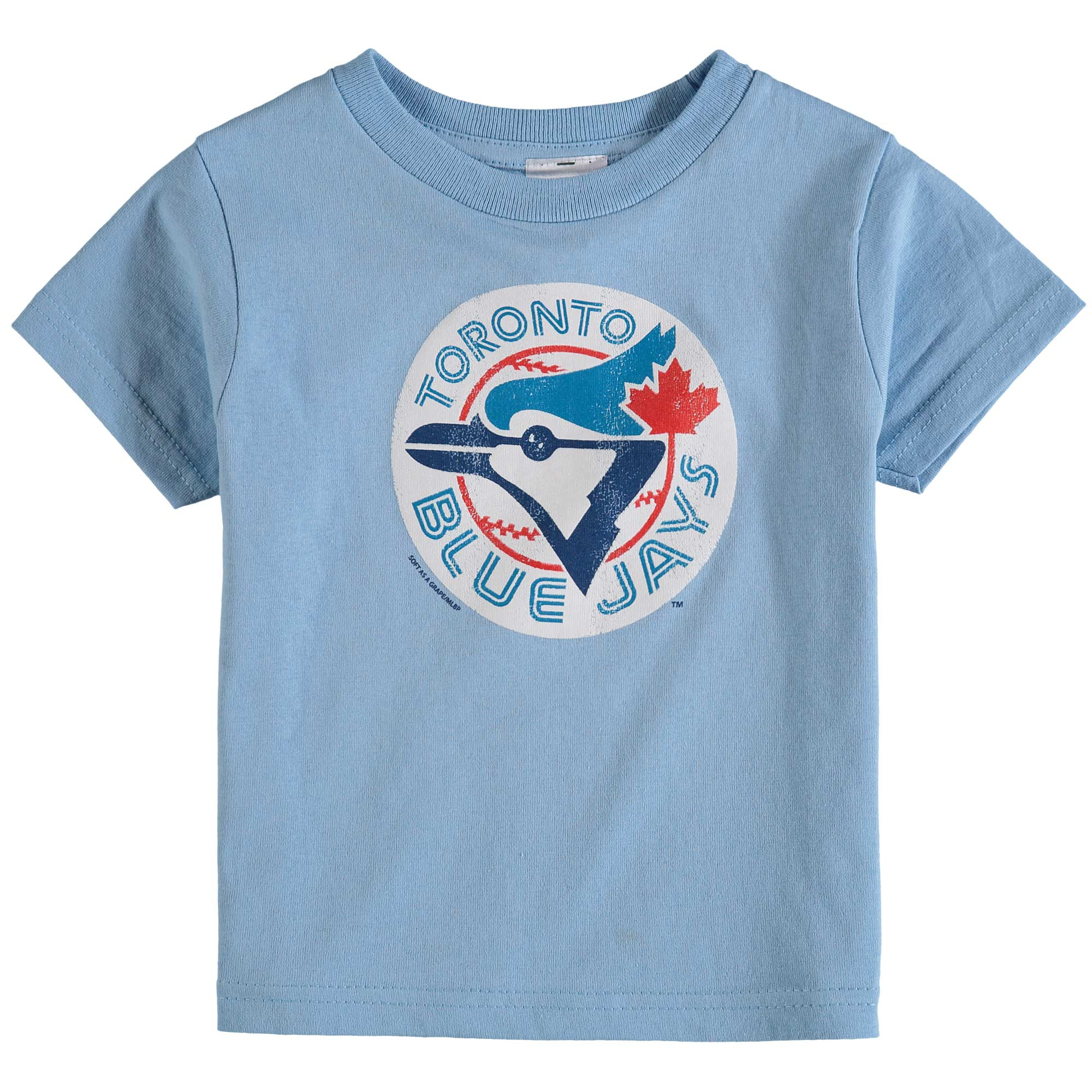 Toronto Blue Jays Soft As A Grape Toddler Cooperstown Collection Shutout T-Shirt - Light Blue