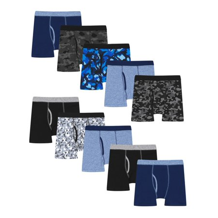 Hanes Boys Underwear, 10 Pack Tagless ComfortSoft Waistband Boxer Briefs (Little Boys & Big Boys) ()