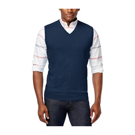 Mens Classic V-neck Sweater - Club Room Mens Knit V-Neck Sweater Vest