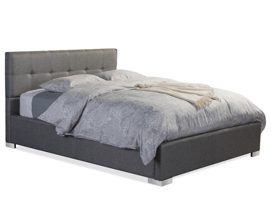 Baxton Studio Regata Modern and Contemporary Upholstered Platform Bed, Multiple Sizes, Multiple Colors by Wholesale Interiors