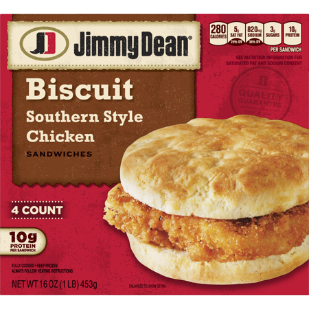 Jimmy Dean Southern Style Chicken Biscuit Sandwiches 4 Count