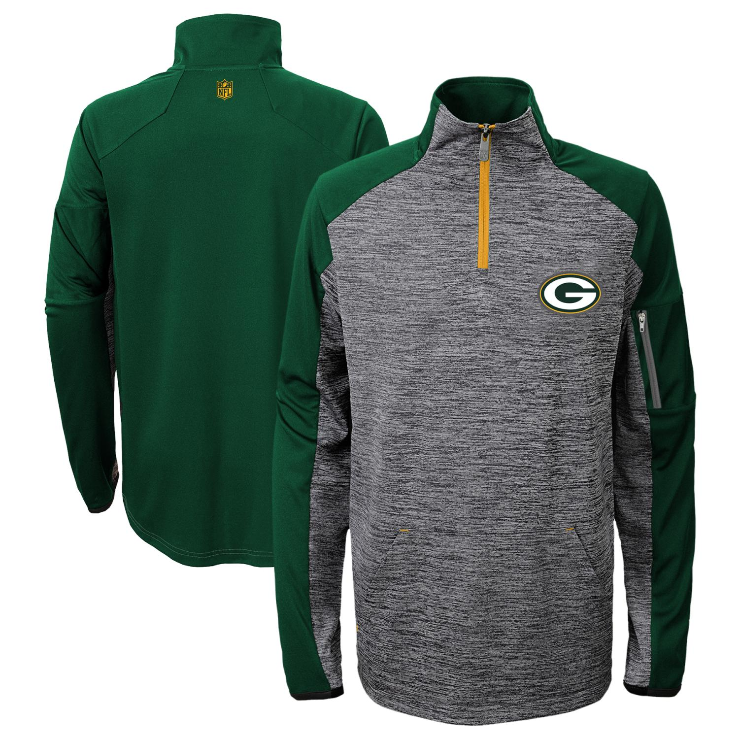 "Green Bay Packers Youth NFL ""Paramount"" 1/4 Zip Pullover Sweatshirt"