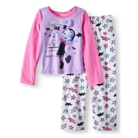 Girls Christmas Pajamas Size 12 (Girls' Vampirina 2-Piece Pajama Sleep)