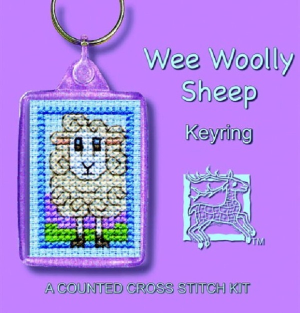 Textile Heritage Keyring Counted Cross Stitch Kit - Wee Woolly Sheep