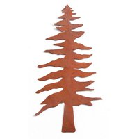 Rusted Tin Pine Tree - 6.25 Inch