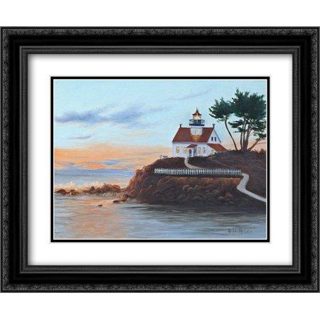 Pt Lighthouse - Battery Pt. Lighthouse 2x Matted 24x20 Black Ornate Framed Art Print by Peterson, Julie