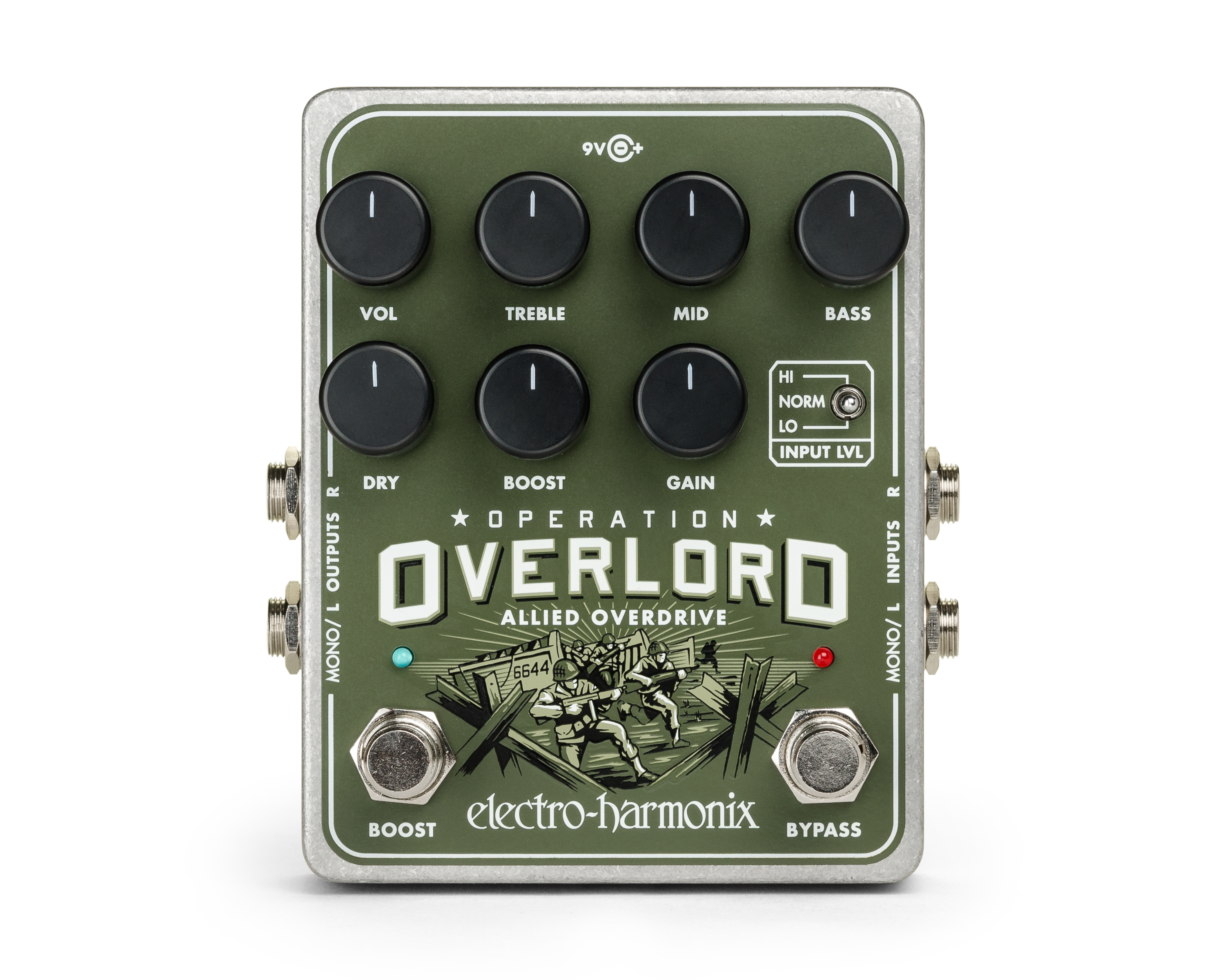 Electro Harmonix Operation Overlord Overdrive Pedal by Electro Harmonix
