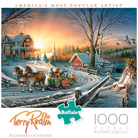Buffalo Games Terry Redlin The Pleasures of Winter 1000 Piece Jigsaw Puzzle](Winter Puzzles)