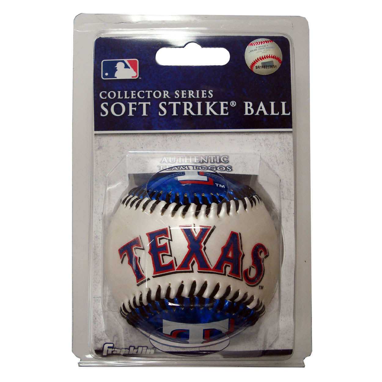 Franklin Sports MLB Soft Strike Baseball Texas R by
