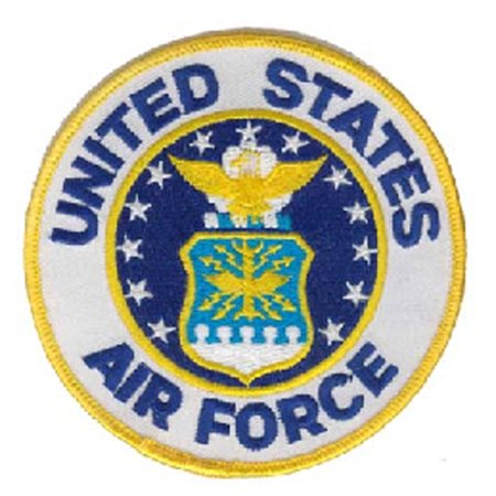 Military Vet Patch (US Air Force Logo Small Embroidered Round Military Patch )
