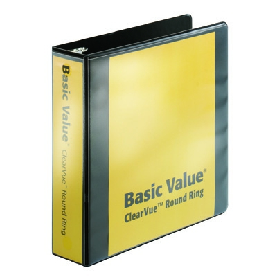 "BasicValue ClearVue""! Binder with Round Rings CRD01501"