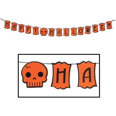 Bulk Buys Felt Happy Halloween Streamer -  Case of 12](Bulk Cheesecloth Halloween)