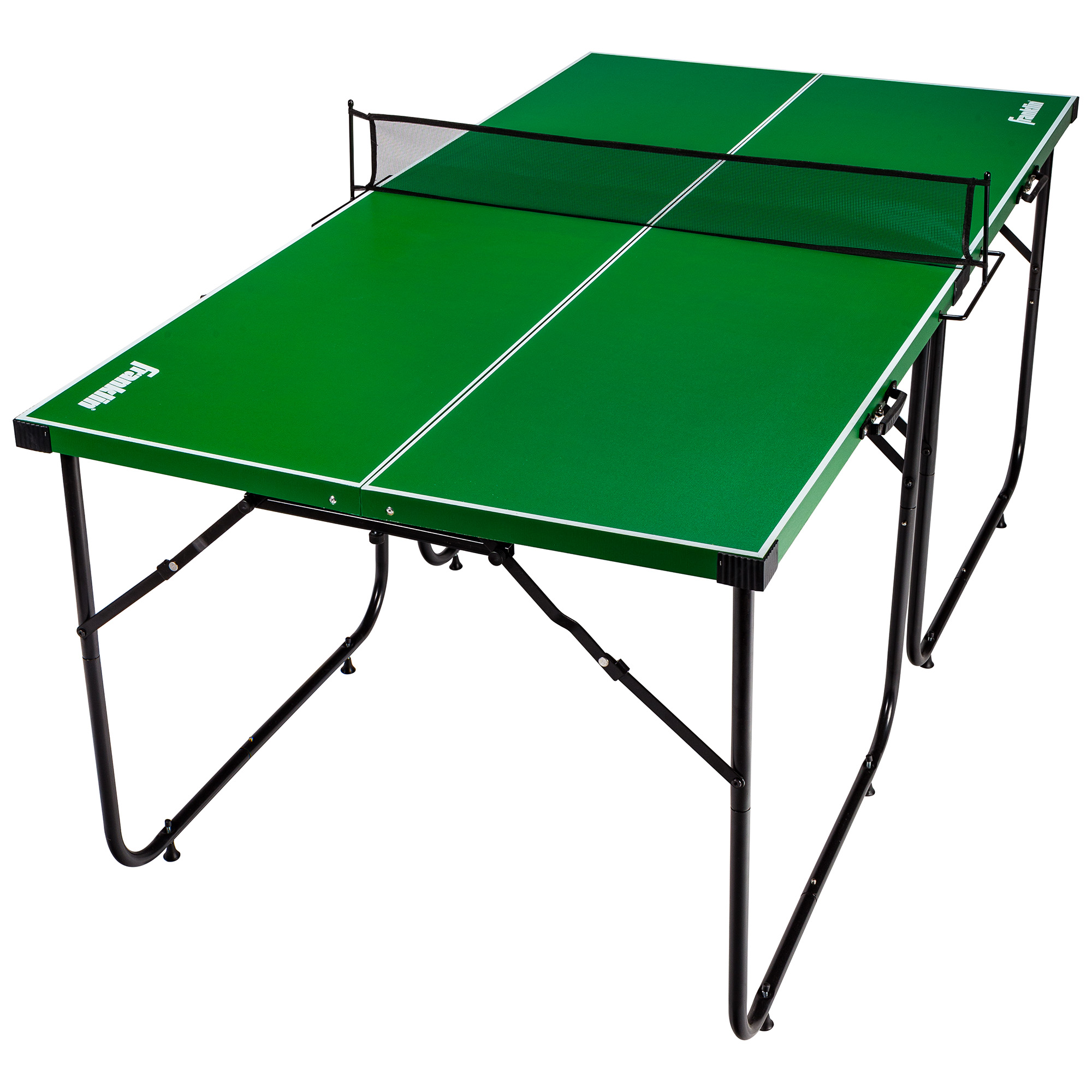Franklin Sports Official Height Mid-Size Foldable Table Tennis Table, 6' x 3', Green