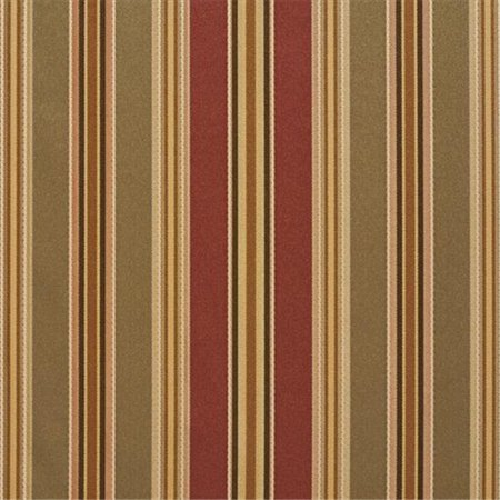 1204 Satin (54 in. Wide Green, Burgundy And Gold Striped Silk Satin Upholstery Fabric)