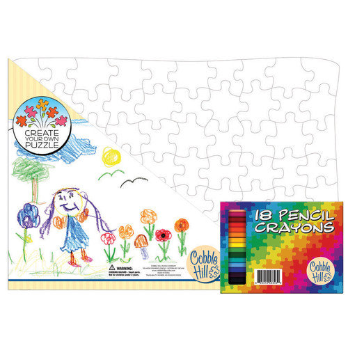 Cobble Hill Puzzle Company 15'' x 21'' Create Your Own Puzzle (with Pencil Crayons)