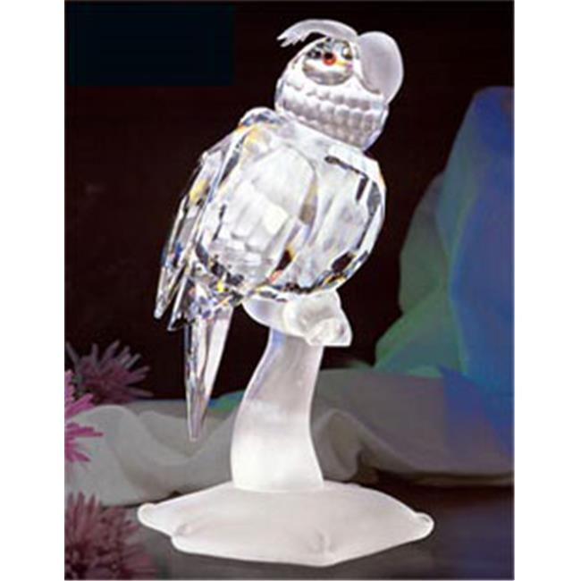 Asfour Crystal 695-65 2.63 L x 5.23 H in. Crystal Parrot Birds Figurines