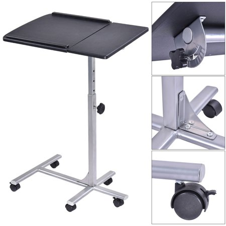 Adjustable angle height rolling laptop notebook desk stand over sofa bed table - Computer stands at walmart ...