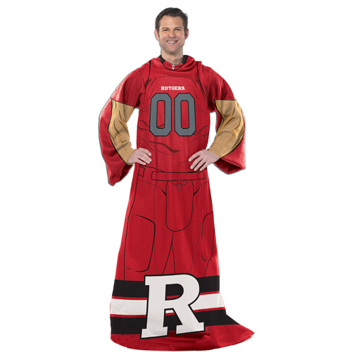 "NCAA Rutgers Scarlet Knights Player 48"" X 71"" Full Body Comfy"