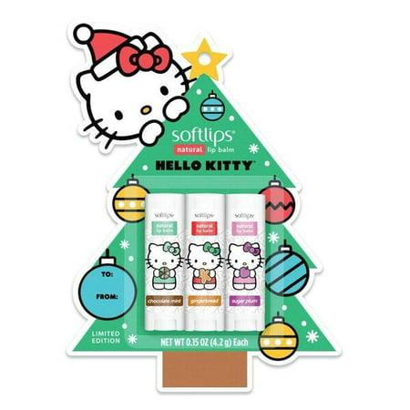 Hello Kitty Christmas Tree.Softlips Hello Kitty Christmas Tree Lip Balm Chocolate Mint Plum Gingerbread