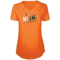 Women's Russell Athletic Orange Miami Hurricanes Tunic Cap Sleeve V-Neck T-Shirt