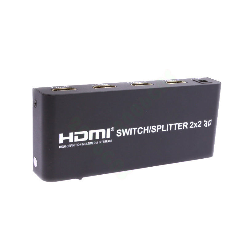 2X2 HDMI 3D True Matrix Switch Splitter 2 In 2 Out Mirror Display W Remote 34276886150 - image 1 of 7