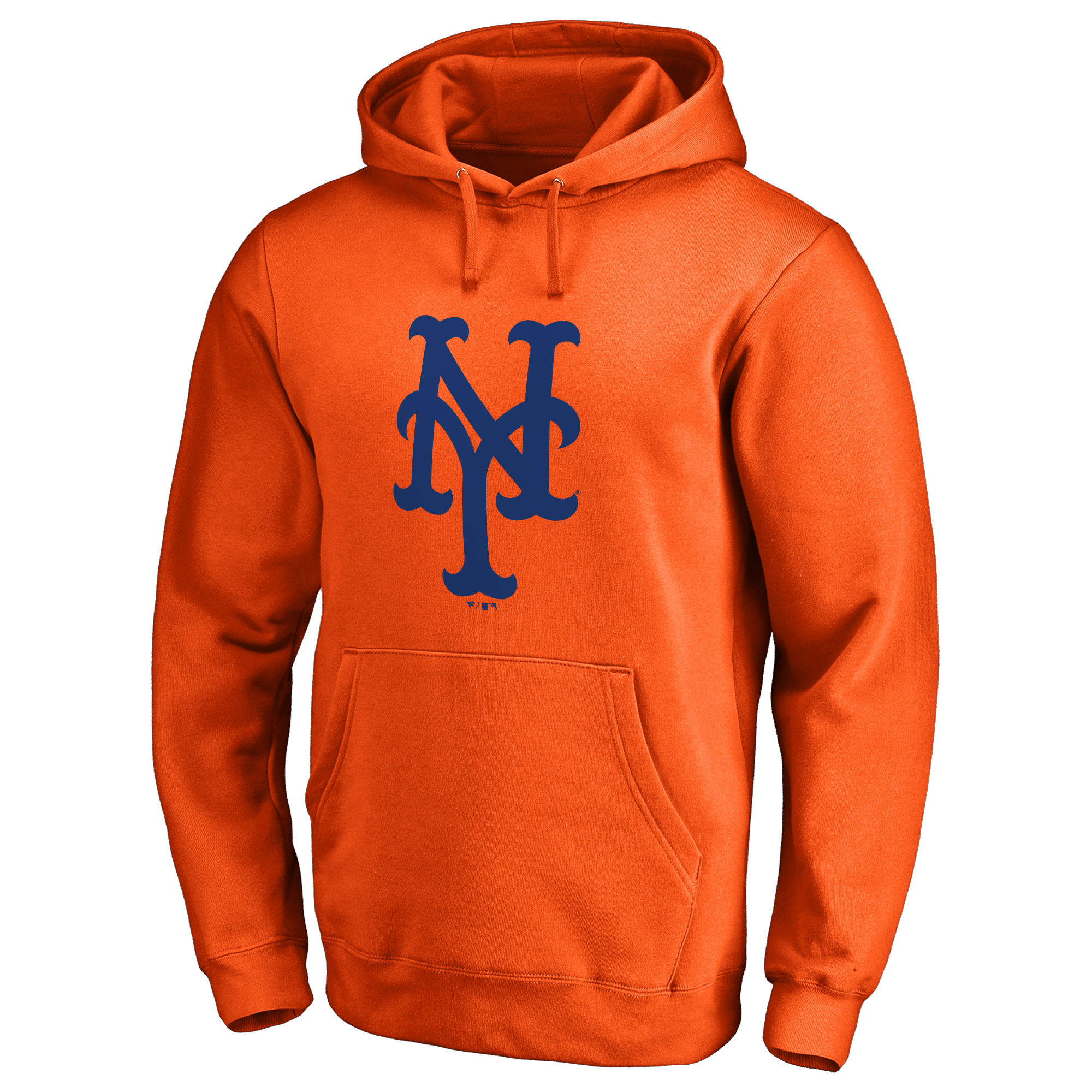 New York Mets Secondary Color Primary Logo 2 Pullover Hoodie - Orange