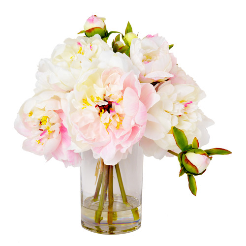 Creative Displays, Inc. Faux Cream & Pink Peony