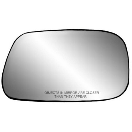 80176 - Fit System Passenger Side Non-heated Mirror Glass w/ backing plate, Toyota Camry Sedan 02-06, 4 1/ 16